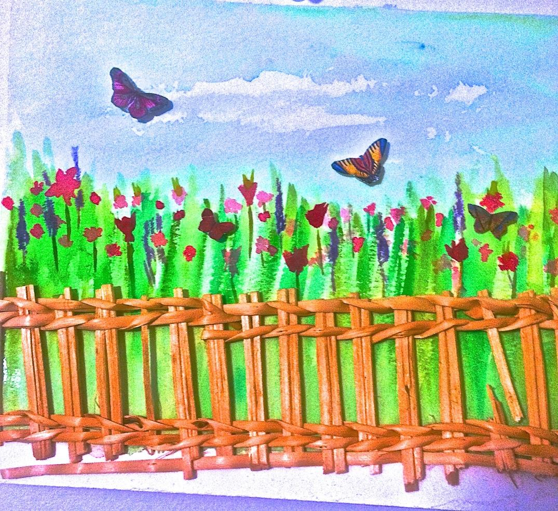 watercolor of butterflies